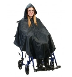 Poncho économique avec capuche pour fauteuil roulant
